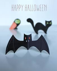 Bat Template Halloween by Halloween Craft Menagerie Free Cute Cats Owls U0026 Bats
