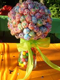 lollipop centerpiece might have to do this kids table change