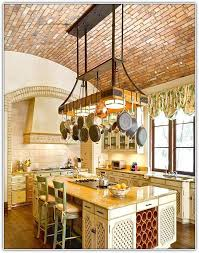 kitchen island with hanging pot rack hanging pot rack with lights home design ideas