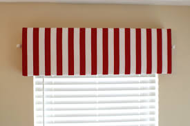 decorations simple red white striped window cornice alongside