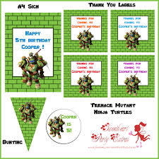ninja turtle birthday party invitations alanarasbach com