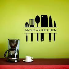 kitchen wall decal custom name decal kitchen utensil wall art