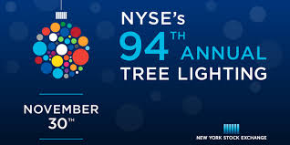 94th annual tree lighting and the nyse closing bell nyse