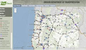 The Oregon Map by Tripcheck Oregon Highway Travel Information Oregon Travel