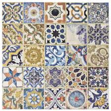 merola tile avila arenal decor 12 1 2 in x 12 1 2 in ceramic