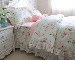 amazon com brandream romantic green pink rose bedding set girls