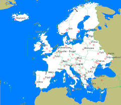Europe Outline Map by Openstreetmap Garmin Maps Maps Download