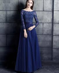 modest bridesmaid dresses royal blue lace tulle modest bridesmaid dresses 3 4 sleeves