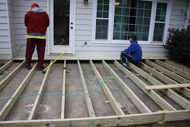 Wooden Decks And Patios Installing A Deck Over Your Patio Decorate Outdoor Spaces