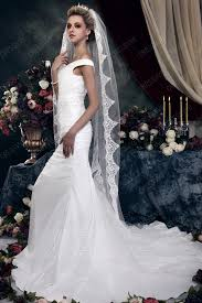 chapel wedding dresses stylish 1 layer chapel wedding bridal veil with vintage floral