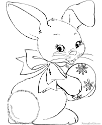 coloring pages bunnies lovely baby bunny easter