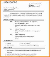 It Job Resume by 6 Job Resume Format For Fresher Ledger Paper