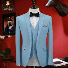 Light Blue Vest Online Get Cheap Light Blue Suit For Men Aliexpress Com Alibaba
