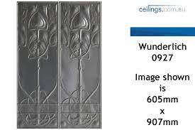 Decorative Pressed Metal Panels Wunderlich Pressed Metal Panels No 0927 Art Nouveau