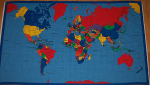Map Fabric Fabric World Map Scrapsofme Me