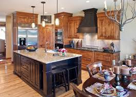 traditional kitchen islands knotty alder cabinets for a traditional kitchen with a kitchen