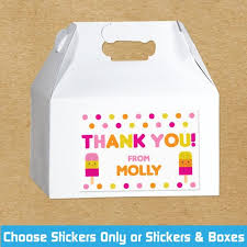 personalized cracker boxes party favor kits personalized gable boxes kids birthday party