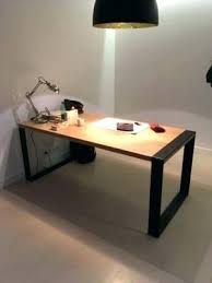 bureau design industriel bureau metal bois finest etabli bureau metal tiroirs bois patine