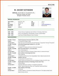 curriculum vitae for job application pdf cv job application exle job resume template pdf exle of a