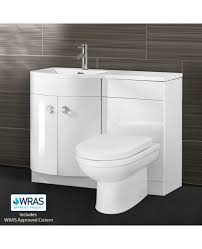 Basin And Toilet Vanity Unit Graham Left Hand White Gloss Bathroom Basin Vanity Unit Wc Toilet