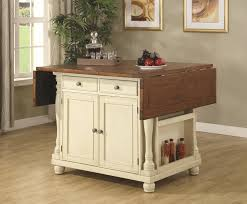 carts two tone kitchen island buttermilk with drop leave