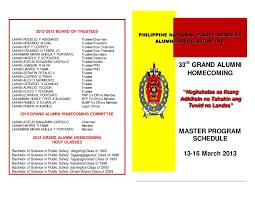 calaméo 33rd grand alumni homecoming master programschedule 13