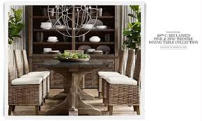Restoration Hardware Dining Room Tables 20th C Reclaimed Pine U0026 Zinc Trestle Dining Table Collection