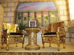 egyptian inspired living room home accents hieroglyphic wallpaper