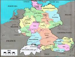 map o germany germany map and germany satellite images