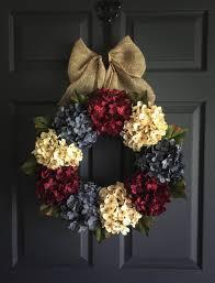 patriotic wreath americana decor with exclusive denim blue