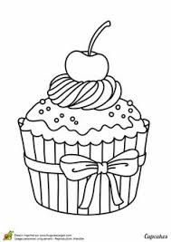 cute cupcake coloring pages 5 best images of printable birthday cupcake outlines black and