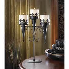 medieval triple candle stand wholesale at koehler home decor