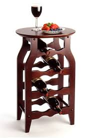 amazon com wine rack end table 8 bottle with oval top home u0026 kitchen