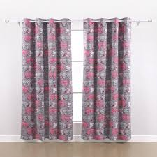 Pink And Grey Shower Curtain by Amazon Com Deconovo Grommet Top Thermal Insulated Blackout