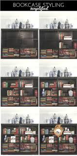 how to style a bookcase bookcase styling made simple emily a clark