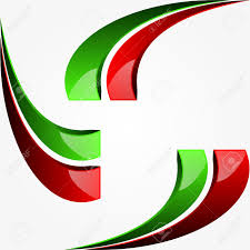Italain Flag Graphic Design With The Colors Of The Italian Flag Royalty Free
