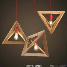 Plug In Hanging Lights by Stunning Hanging Lamp Uk Wall Wooden Triangle Droplight Fashion