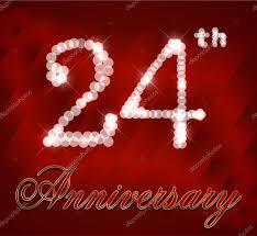 24 year happy birthday card 24th birthday vector eps10 stock