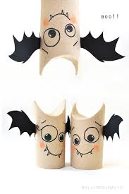 Free Halloween Craft Patterns by 5min Craft Toilet Roll Bat Buddies Toilet Bats And Craft