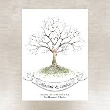 wedding tree wedding fingerprint tree guest book by lillypea event stationery
