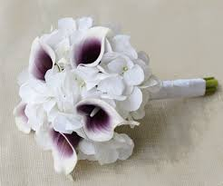 picasso calla touch purple heart picasso calla lilies and hydrangeas