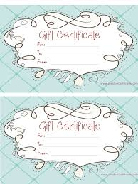 online gift certificates free gift certificate template customize online and print at home