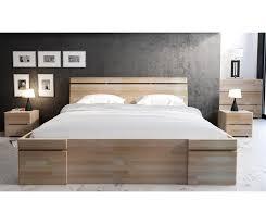 letto cassetti letto in legno sparta in faggio con cassetti vivere zen