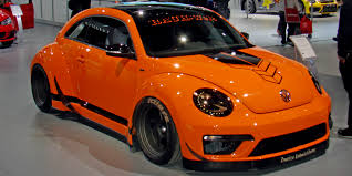 orange volkswagen beetle 2015 volkswagen tanner foust rwb beetle vehicles on display