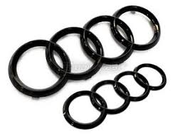 audi rings audi rings gloss black grill trunk a3 s3 a4 s4 rs4 a5 s5 a6 s6