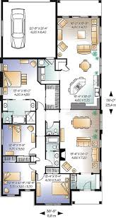 14 remarkable house plans narrow lot detached garage with floor