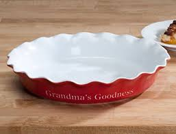 personalized pie plate ceramic personalized ceramic pie dish kitchen dining
