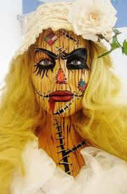 scarecrow face paint and makeup halloween cool creepy and yet kind