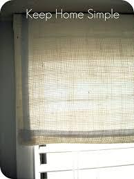 keep home simple no sew burlap window valance