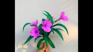 How To Make Mexican Paper Flowers - how to make paper flowers ruellia mexican petunia flower 209
